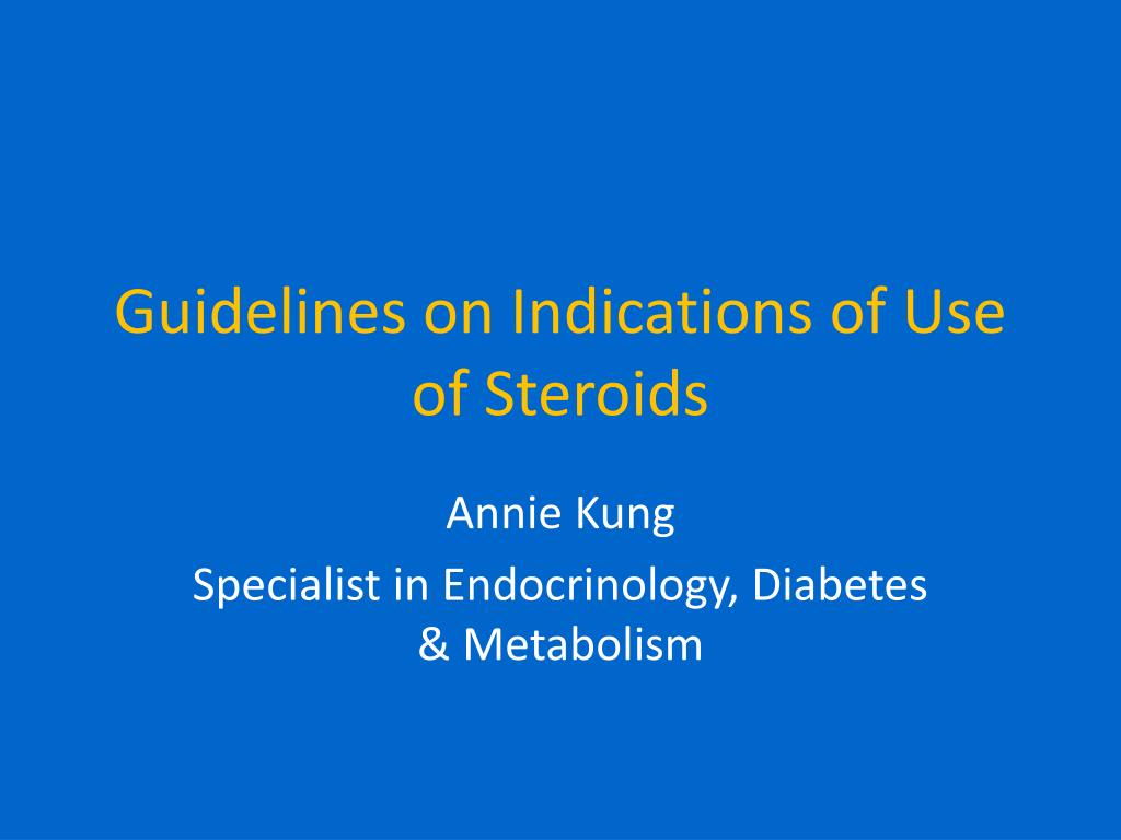 guidelines on indications of use of steroids l.