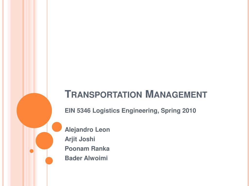 transportation management l.