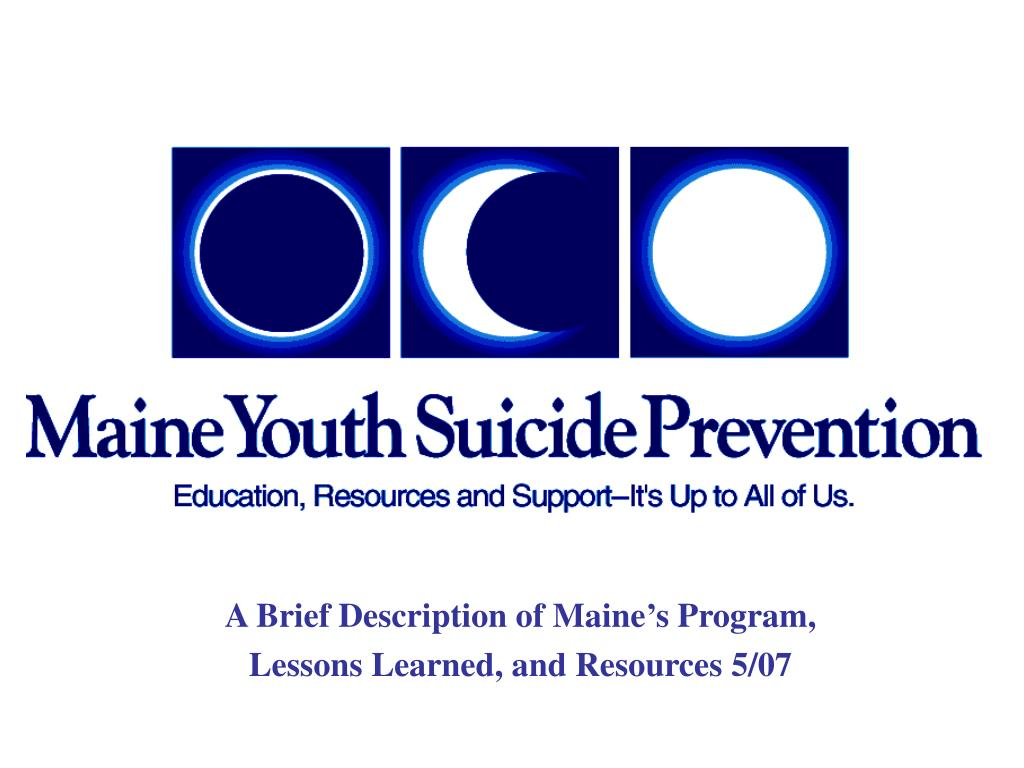 a brief description of maine s program lessons learned and resources 5 07 l.