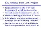 key findings from cdc project