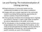 lee and fleming the institutionalisation of lifelong learning