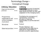terminology change conceptual change