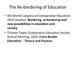 the re bordering of education