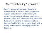 the re schooling scenarios