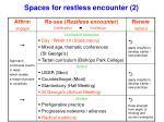 spaces for restless encounter 2