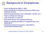 background of smartphones