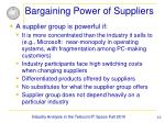 bargaining power of suppliers10