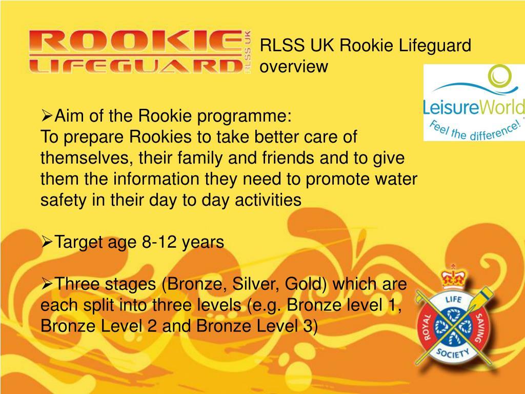 RLSS UK Rookie Lifeguard overview