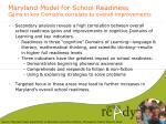 maryland model for school readiness gains in key domains correlate to overall improvements