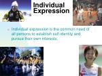 individual expression