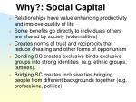 why social capital