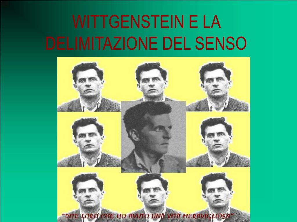 wittgenstein e la delimitazione del senso l.