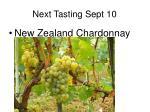 next tasting sept 10