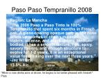 paso paso tempranillo 2008