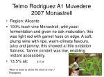 telmo rodriguez a1 muvedere 2007 monastrell
