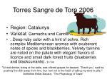 torres sangre de toro 2006