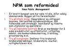 npm som reformideal new public management