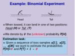 example binomial experiment