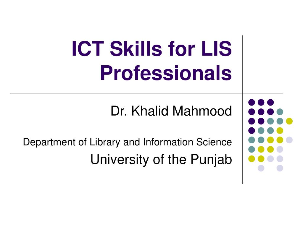 ict skills for lis professionals l.