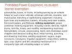 prohibited power equipment no student learner exemption