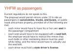 yhfw as passengers
