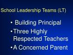 school leadership teams lt