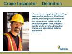 crane inspector definition