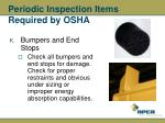 periodic inspection items required by osha39