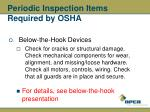 periodic inspection items required by osha44