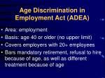 age discrimination in employment act adea