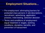 employment situations