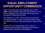 equal employment opportunity commission9