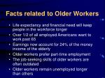 facts related to older workers