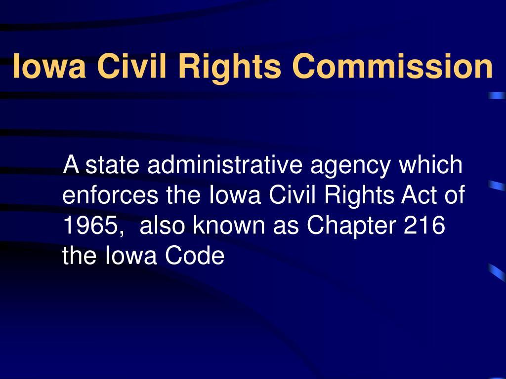 iowa civil rights commission l.