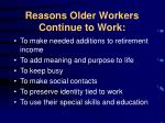 reasons older workers continue to work