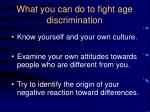 what you can do to fight age discrimination