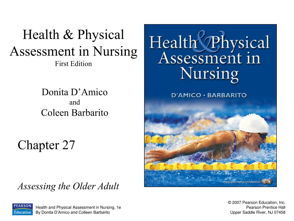health physical assessment in nursing first edition l.
