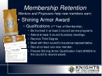 membership retention mentors and proposers help new members earn