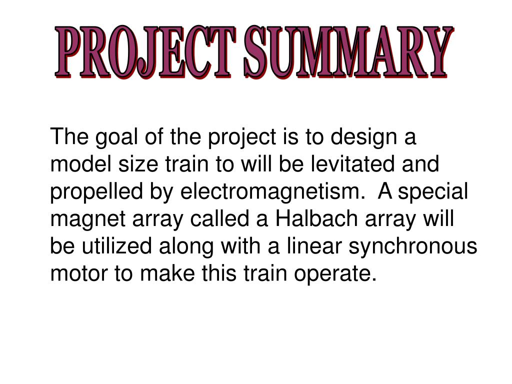 PROJECT SUMMARY