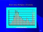 book value multiples us stocks