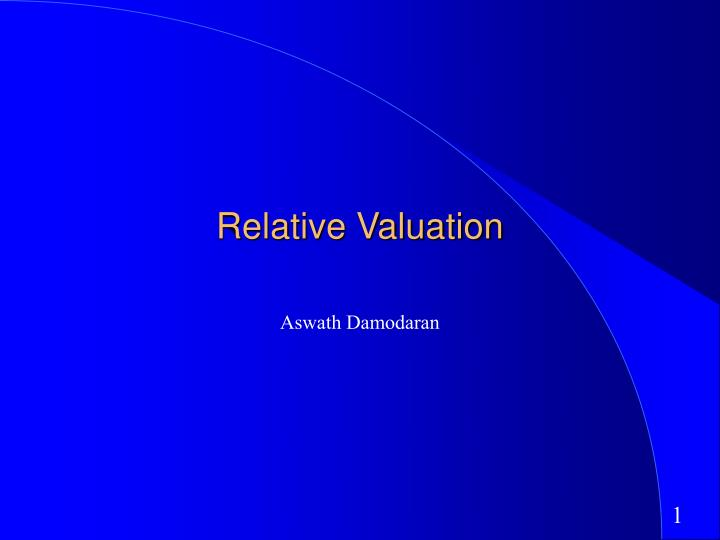 relative valuation n.