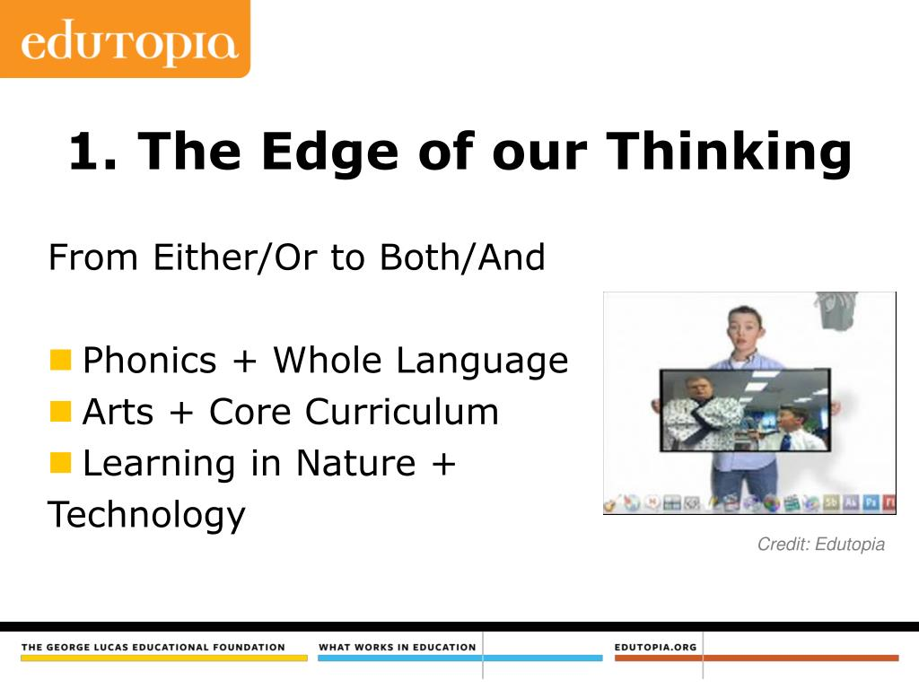 1. The Edge of our Thinking