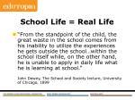 school life real life