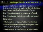 finding all paths in a labyrinth 213