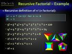recursive factorial example