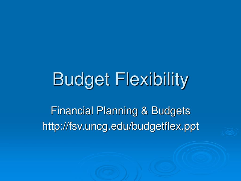 budget flexibility l.