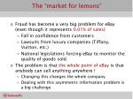 the market for lemons13