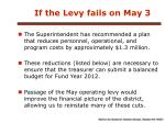 if the levy fails on may 3