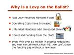 why is a levy on the ballot