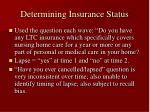 determining insurance status